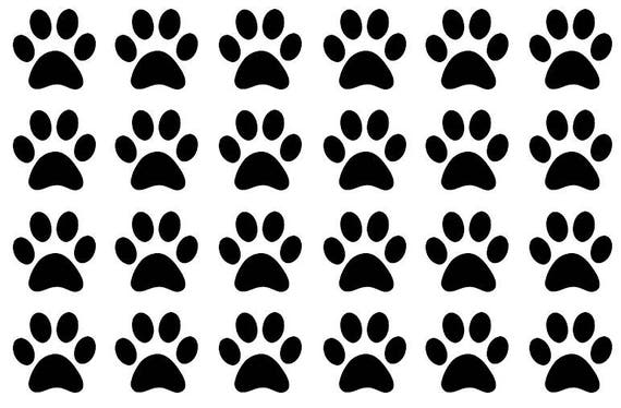 35 Paw Print Stickers Animal Seals Party