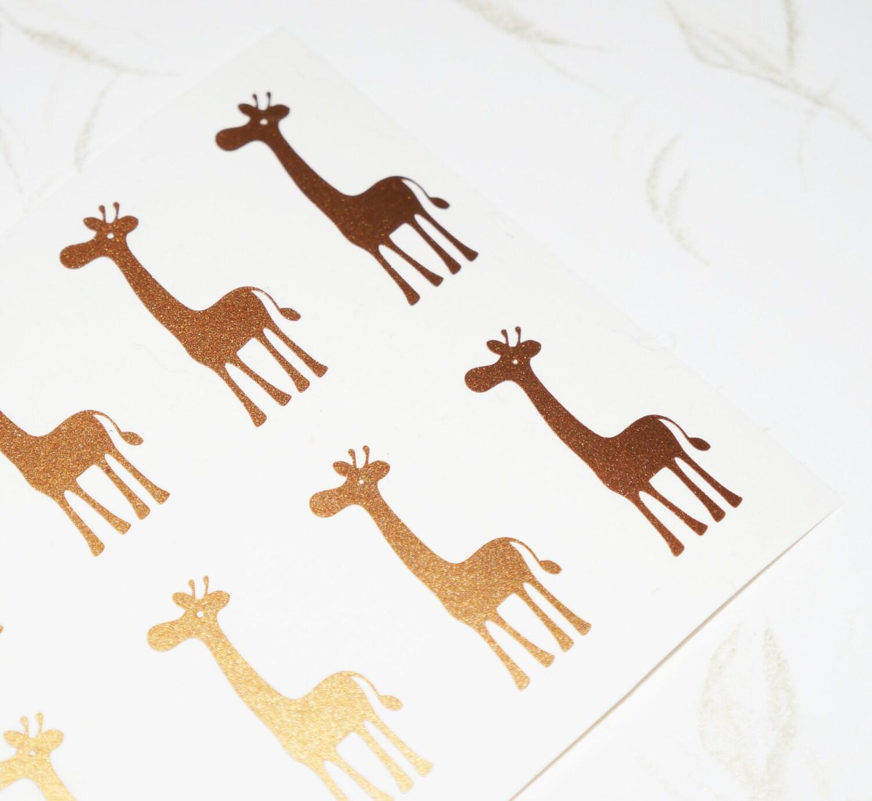 40 Giraffe Stickers Giraffe Wall Decal Animal Stickers Giraffe