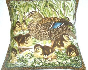 Hand Made fryatts le canard colvert Fermeture à glissière housses de coussin 19 x 12