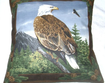 White Tailed Eagles in the mountains cushion