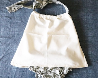 Halter neck cami and diaper cover set
