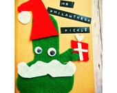 Items Similar To Mr Philanthrop Pickle Bad Santa Card Penis Cards