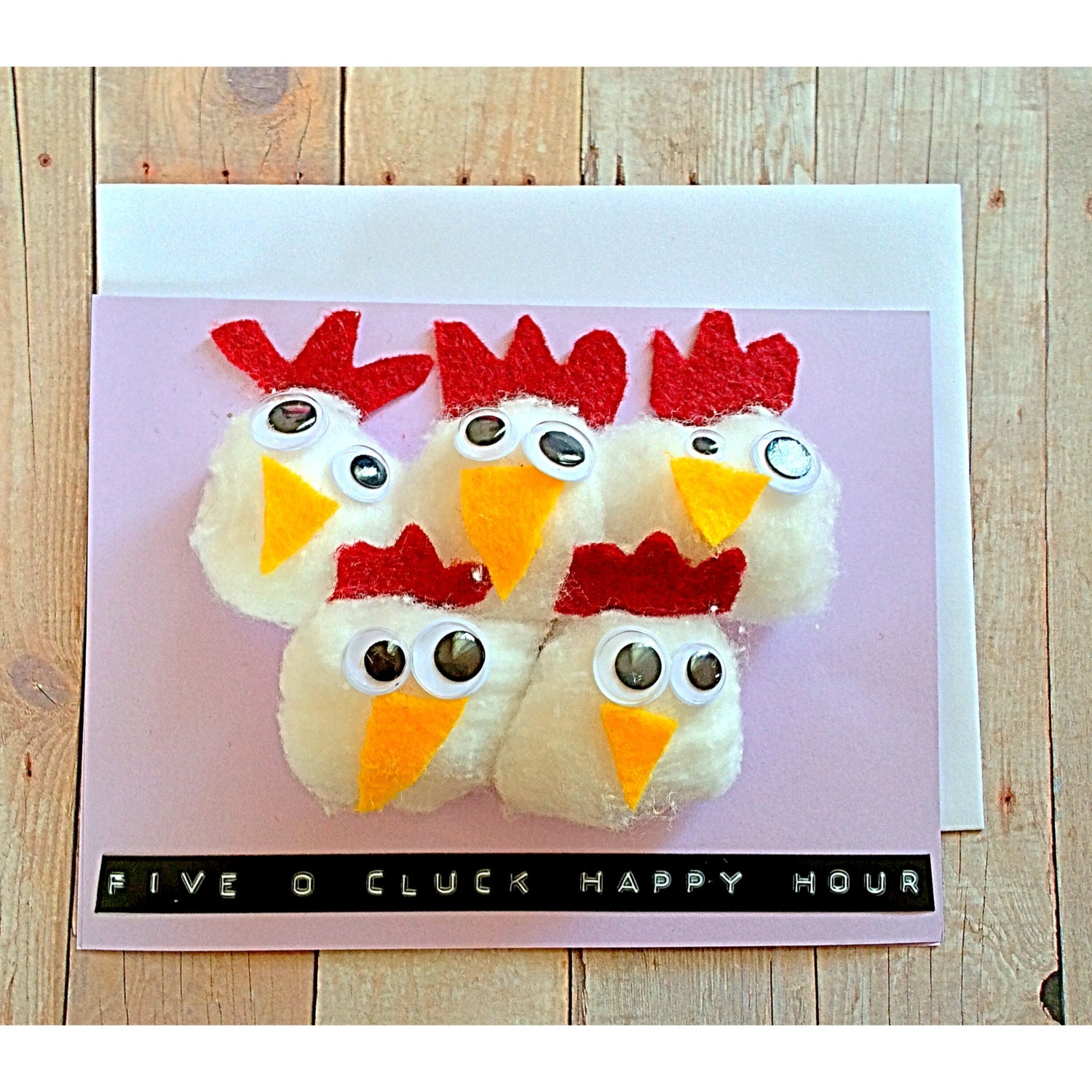 5 O Cluck Happy Hour Pack Of Hens Pun Humor Handmade Etsy The Diagram A Chicken Zoom