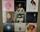 Lot of 9 - Barbra Streisand, Color Me Barbra, Guilty, My Name is Barbra, Third Album, Christmas Album, People, Emotion,