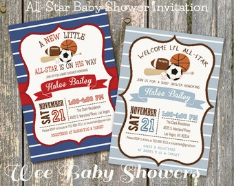 All star baby shower Etsy
