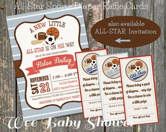 Diaper Raffle All-Star Sports Baby Shower