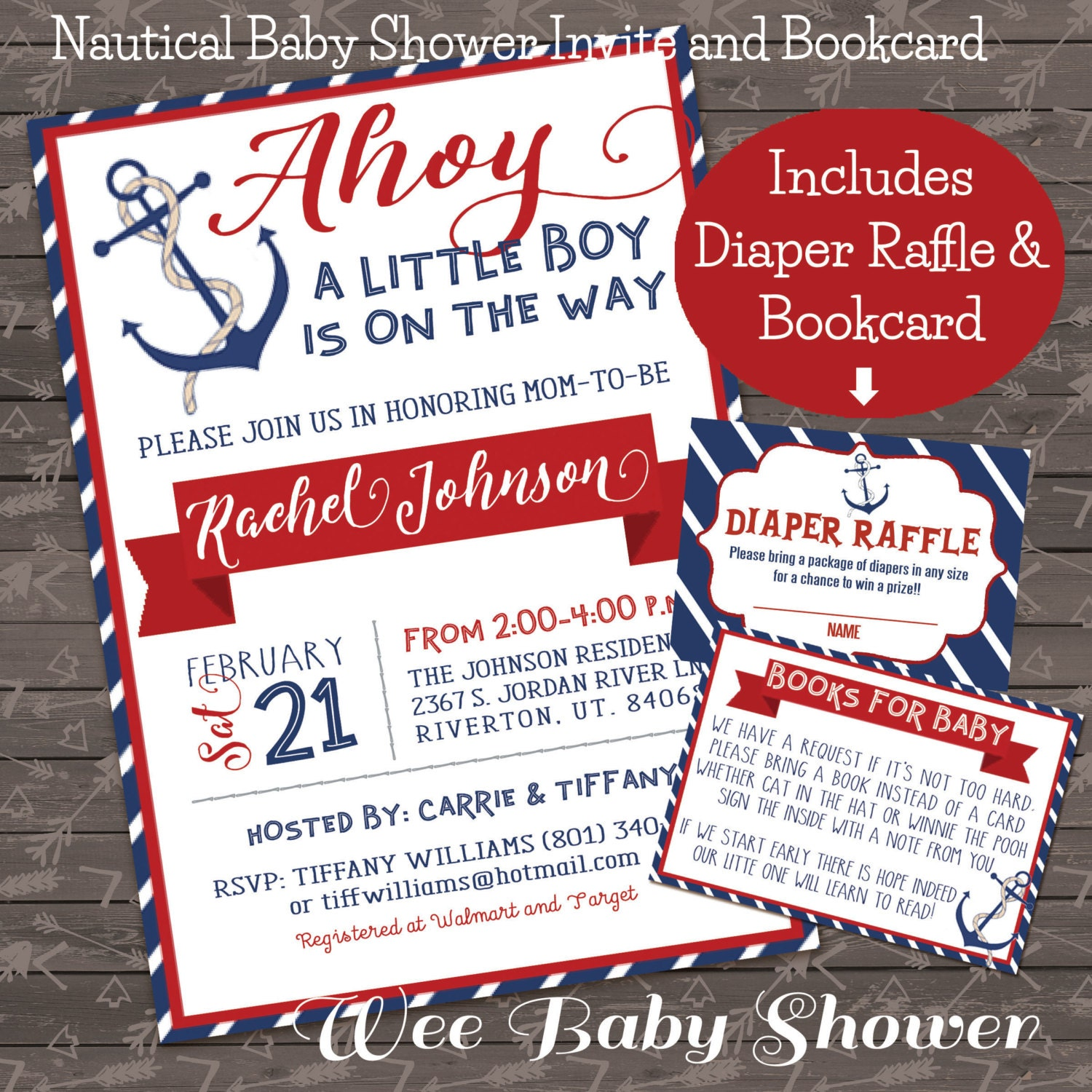 Perfect Diaper Baby Shower Invitation Model - Invitations and ...