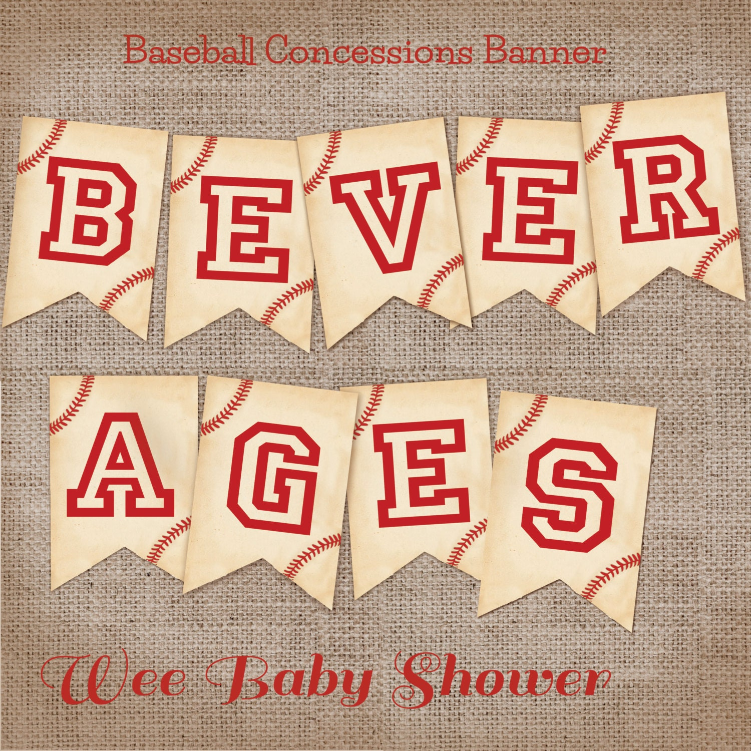 vintage baseball baby shower