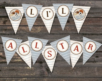 all-star sports baby shower banner