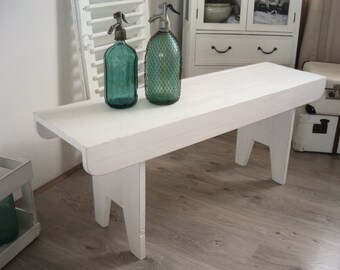 Sweden bank, bank, White, shabby chic, vintage, Nordic