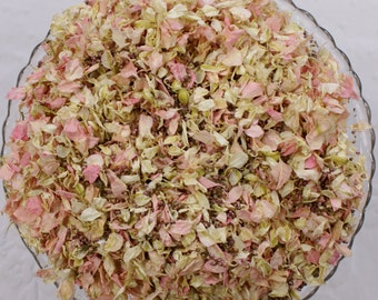 Biodegradable Confetti, Dried Natural Petals, BLUSHING PINKS BLEND