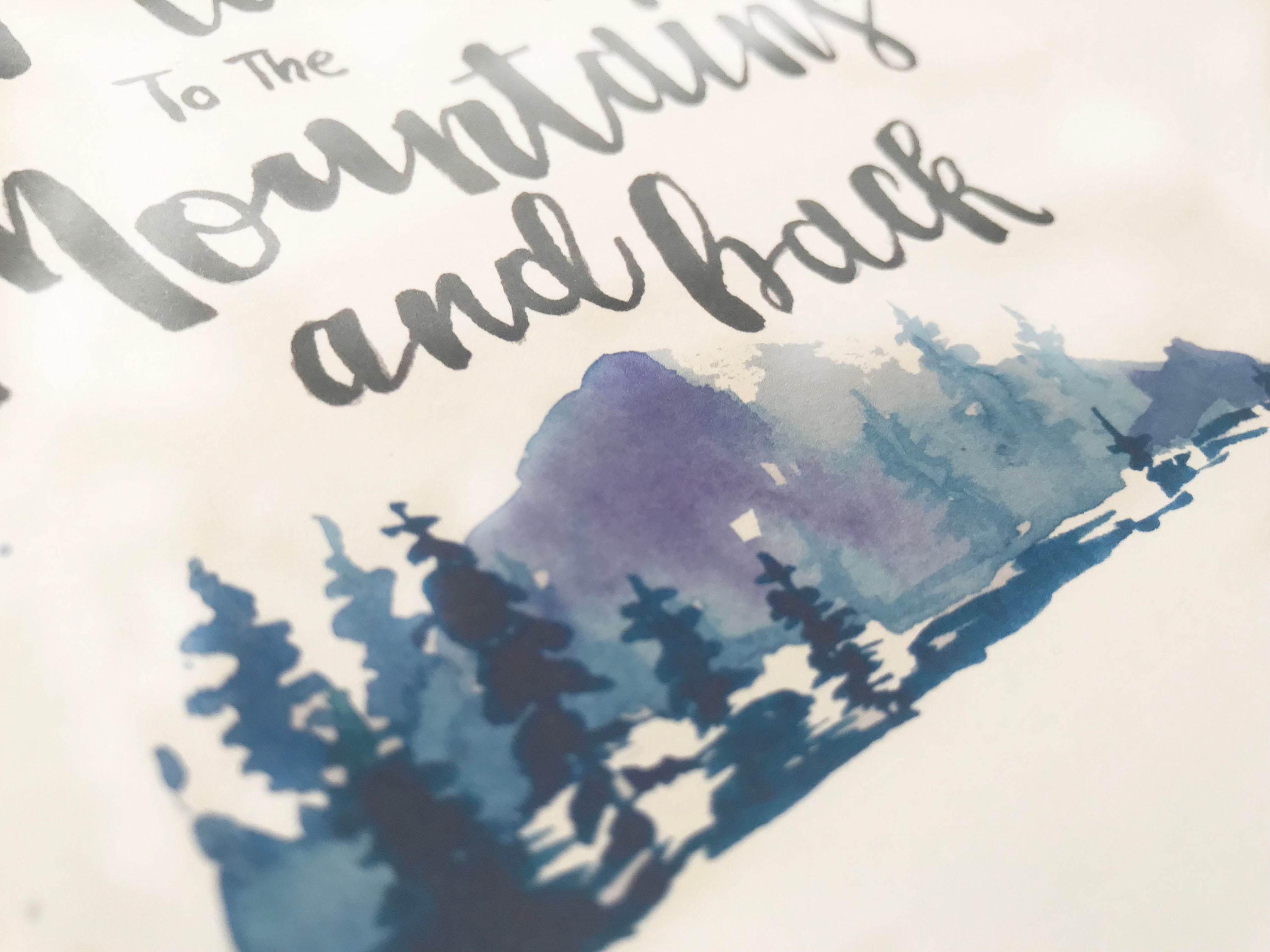Mountains Back Greeting Card