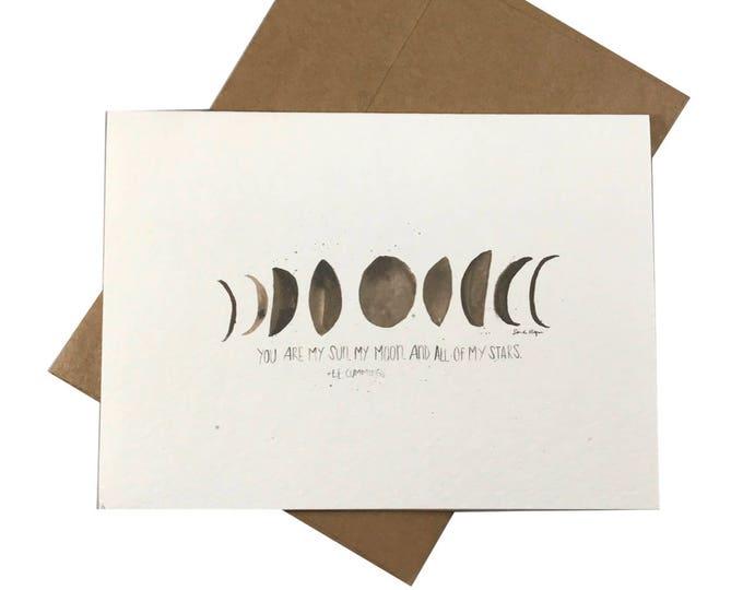 Sun, Moon, Stars Greeting Card