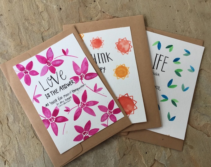 Good Vibes greeting cards 3 pack