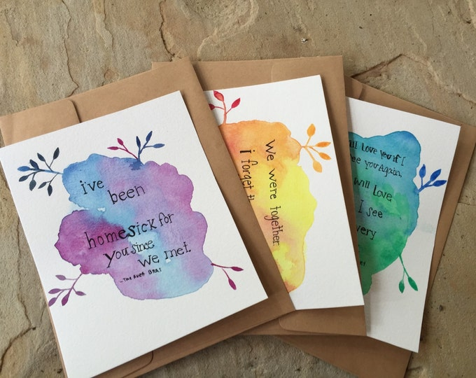 Love letters greeting card 3 pack