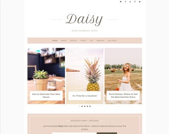 Daisy WordPress Theme • Genesis Child Theme • Responsive WordPress Theme • Feminine WordPress Theme • WordPress Template • Blog Template