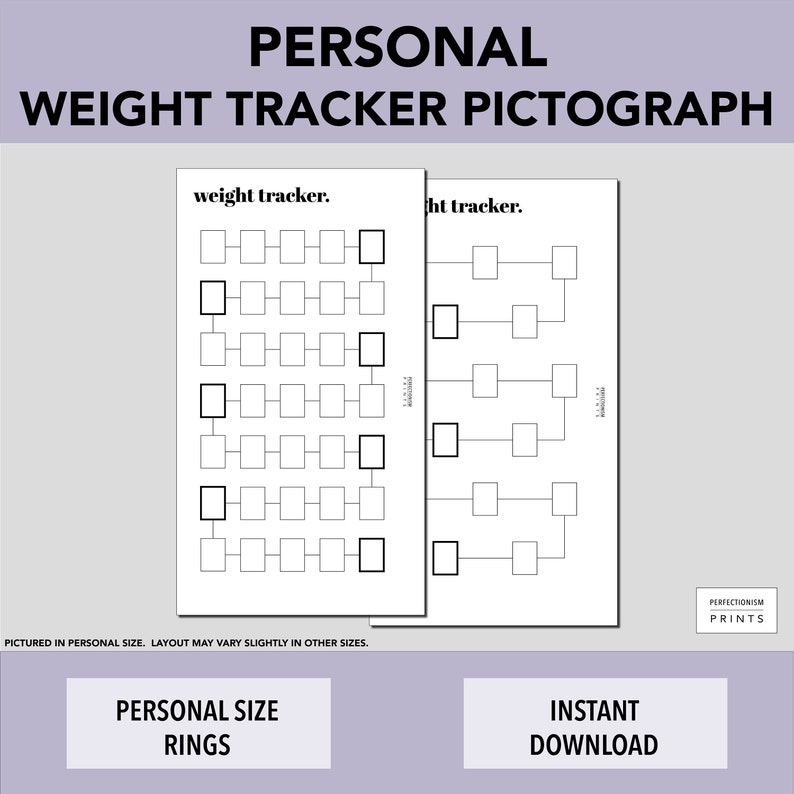 PERSONAL RINGS Color-In Weight Tracker // Weight Loss image 0
