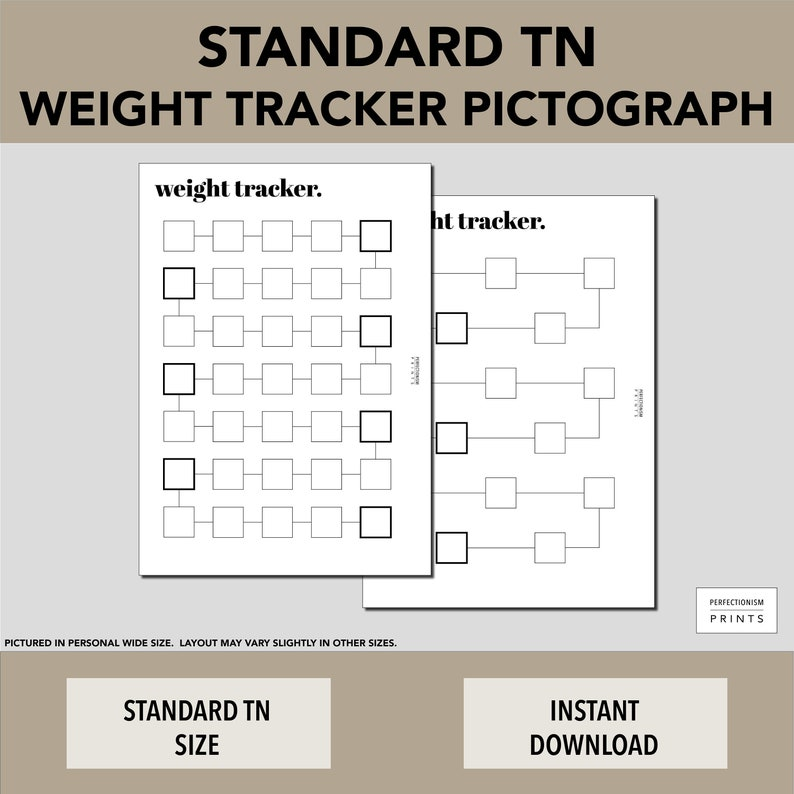 STANDARD TN Color-In Weight Tracker // Weight Loss Pictograph image 0