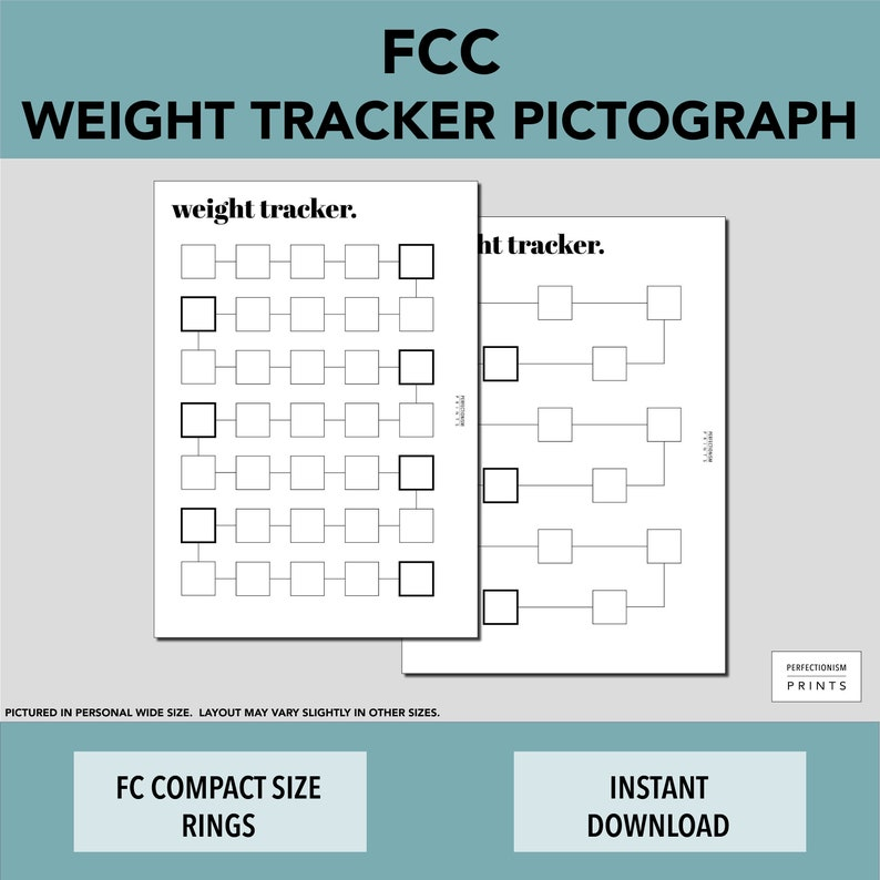 FCC RINGS Color-In Weight Tracker // Weight Loss Pictograph image 0