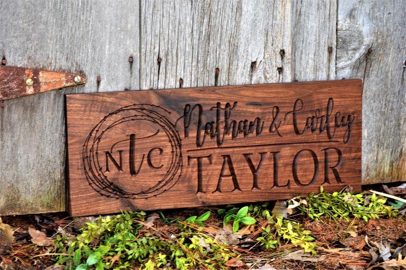 Outdoor Custom Wood Signs Custom Wood Sign Custom Wood Sign image 0