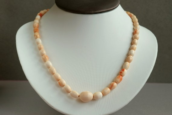 Vintage shell necklace, Antique shell necklace,Gra