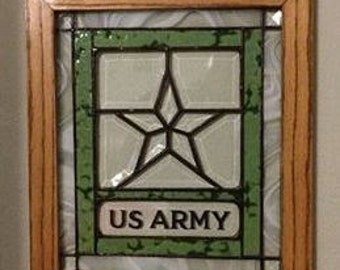 e0d2e7e94861 US Army Stained Glass Beveled Panel