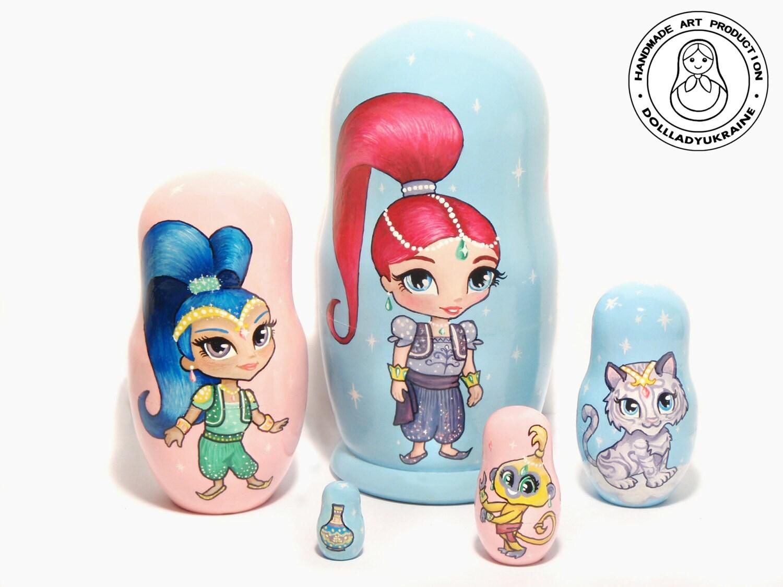 Shimmer and Shine 14 cm 55 Nesting Dolls Matryoshka   Etsy