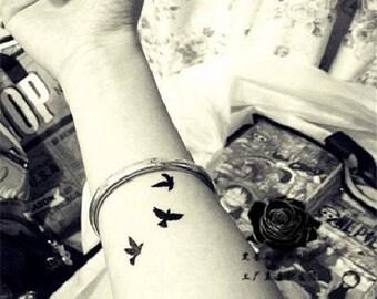 b825100d7 3 Sheets Bird Temporary Tattoo Bird Tattoo Flying Bird Tattoo Free Bird  Tattoo Small Bird Tattoo Minimal Faux Tatouage Temporaire ZANCTUARY