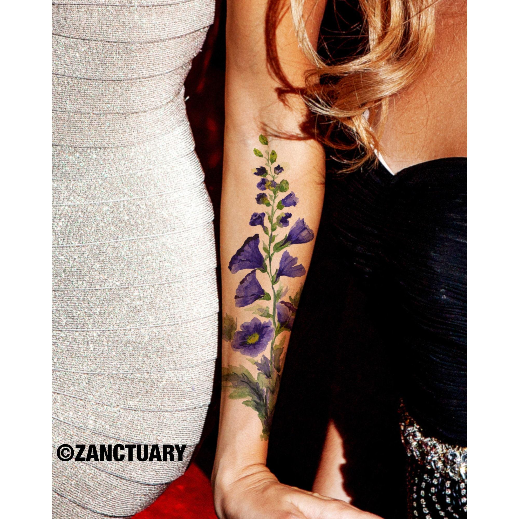 Aquarelle Fleur Tatouage Avant Bras Tatouage Fleur Tatouage Temporaire Manche Pour Femmes Tatouage Floral Faux Tatouage Temporaire Tätowierung
