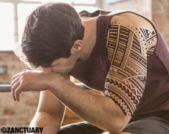 Men Temporary Tattoo Sleeve Polynesian Tattoo for Men Maori Tattoo Tribal Tattoo Fake Tattoo Sleeve Tatouage Temporaire Homme Tätowierung