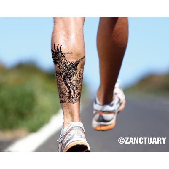 Phoenix Temporary Tattoo Phoenix Tattoo Phoenix Fake Tattoo Etsy