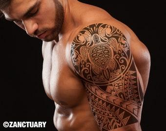 Maori Temporary Tattoo Sleeve for Man Maori Tattoo Sleeve Polynesian Tattoo Tribal Tattoo Maori Fake Tattoo Sleeve Faux Tatouage Temporaire