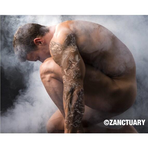 Manche Tatouage Temporaire Diable Pour Homme Diable Ange Etsy
