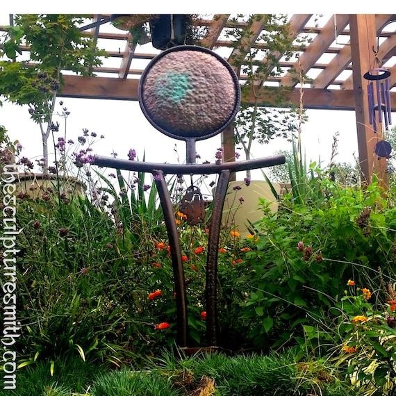 Metal Sculpture Garden Artgarden Sculpturezen Etsy