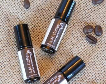 Under-Eye Coffee Serum with Almond and Argan Oils; all natural; depuffs & moisturizes!