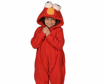 Elmo costume etsy kids animal onesie kigurumi cosplay red monster elmo inspired solutioingenieria Choice Image