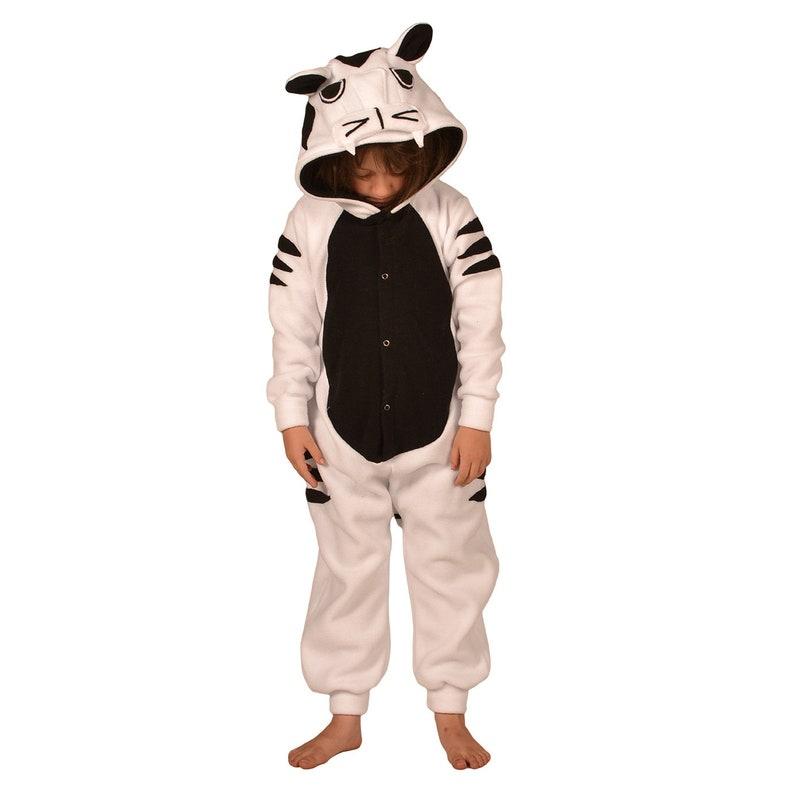 4427db81d0c9 Kids Animal Onesie Kigurumi Cosplay White Tiger