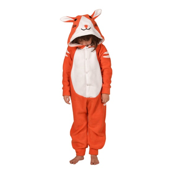 Kids Animal Onesie Kigurumi Cosplay Ginger Cat  b50114d973b8
