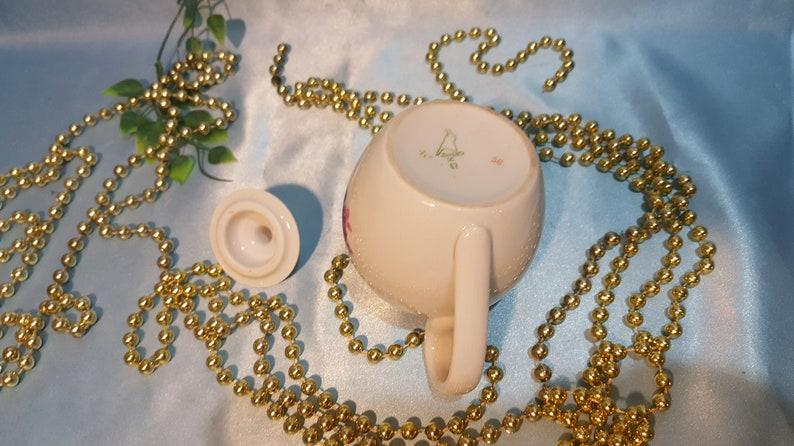 USSR Vintage little souvenire teapot Russian porcelain