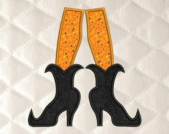 556980eff witch shoes Applique machine embroidery designs 3 sizes 4x4