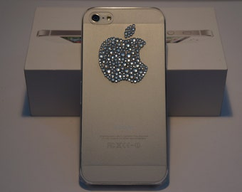 Clear Frosted Hard Case Snap on Cover with Clear Swarovski Crystal Bling  FOR iPhone 5 and 5s 70cac400c