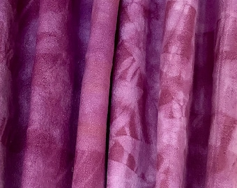 Shibori and natural dyes on vintage linen