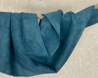 Indigo and shibori on linen