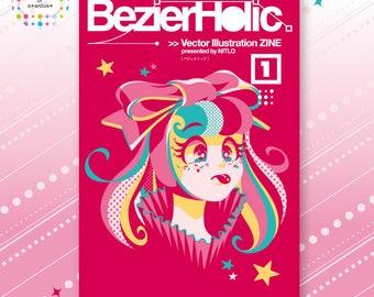 BezierHolic 1 - Vector Illustration ZINE