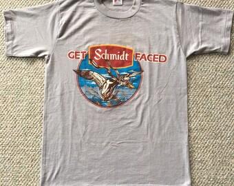 257d5171 Vintage Schmidt's Beer Get Schmidt Faced Men's S 80s Humor Animal Beer Duck  T Shirt. acatnamedbojangles. 5 out of 5 stars ...