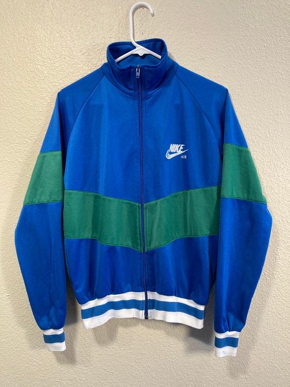 Vintage Nike Air Men's S Blue/Green Stripe 70s 80s