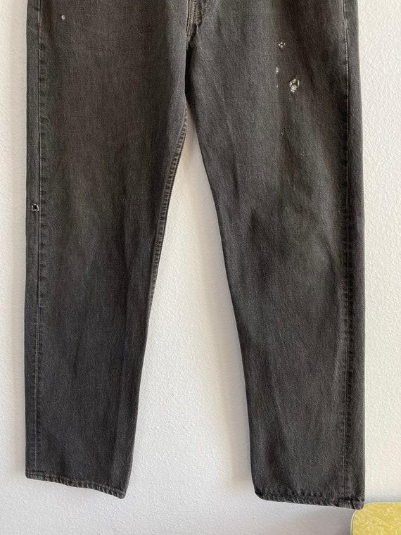 Vintage Levi's 501 Size 34x31 Black 80s 90s Denim… - image 4