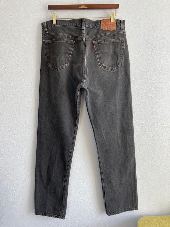 Vintage Levi's 501 Size 34x31 Black 80s 90s Denim… - image 2