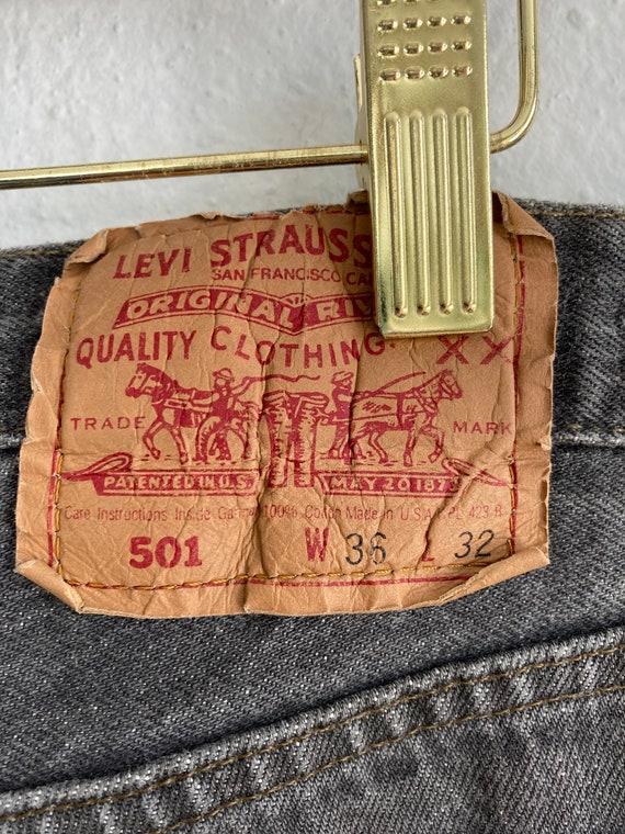 Vintage Levi's 501 Size 34x31 Black 80s 90s Denim… - image 9