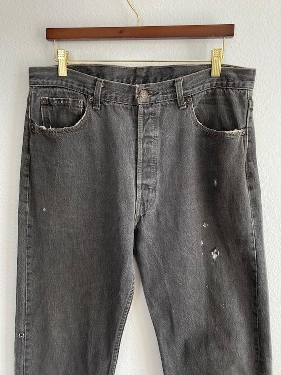 Vintage Levi's 501 Size 34x31 Black 80s 90s Denim… - image 3